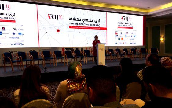 Fra ARIJs 10-årsjubileum denne uka, på konferanse i Jordan.