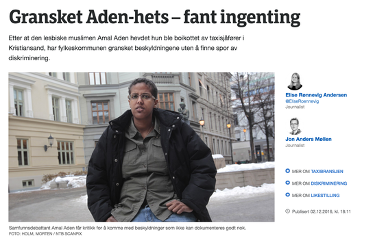 (Faksimile: NRK).