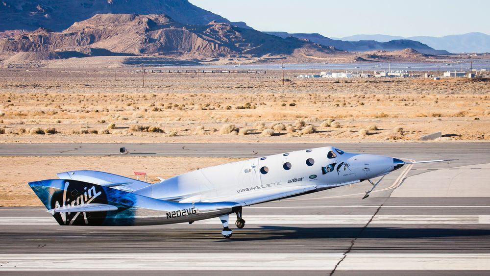 VSS Unity lander igjen etter ti minutters glideflukt lørdag 3. desember.