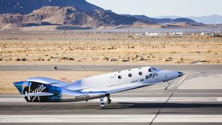 Det nye romturisme-fartøyet har fløyet - to år etter at første versjon gikk i oppløsning