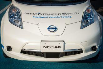 Nissan Leaf IVT er utstyrt med sensorer som lar bilen kjøre selv.