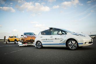 Nissan Leaf IVT demonsterer også at det er fullt mulig å trekke en tung tilhenger med en Nissan Leaf.