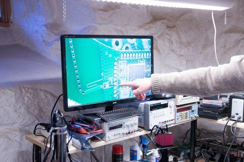 Dette er bluetooth-antennen, der trådløstsignalet kommer inn.– En kul tilkobling, sier Strand-Bergersen.