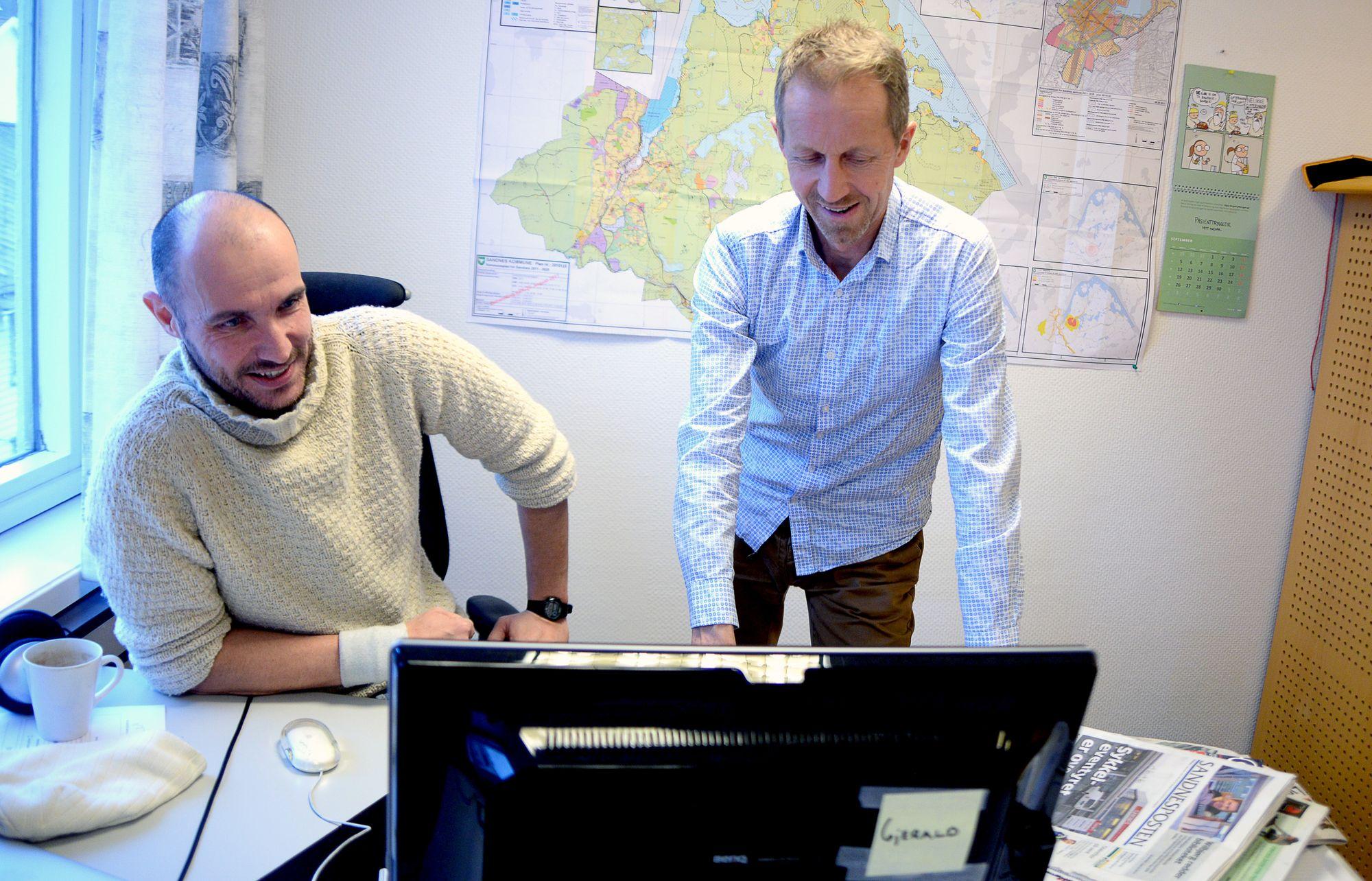 Redaktør Frode M. Gjerald og Jørn Holmen begynte i 2014 og 2013 - og har tatt avisa med på en solid snuoperasjon.