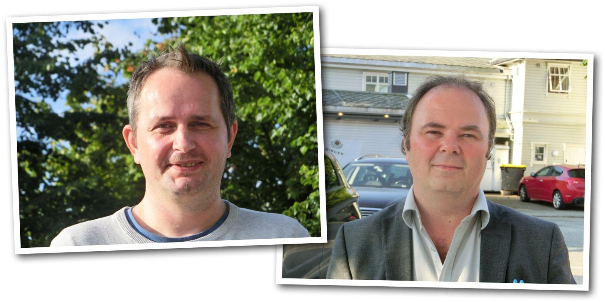 Disse karene sørger for at Sandnesposten får stadig nye abonnenter: Cato Thrane Årbø (t.v.) og Sven Magne Anda.
