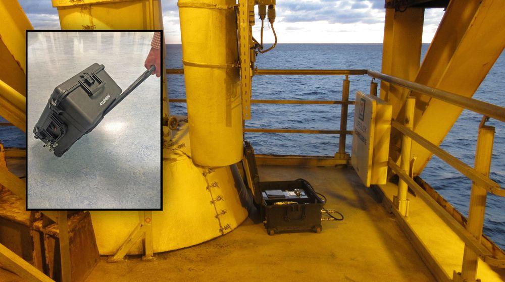 Denne trillekofferten erstatter to ingeniører på oljeplattformer