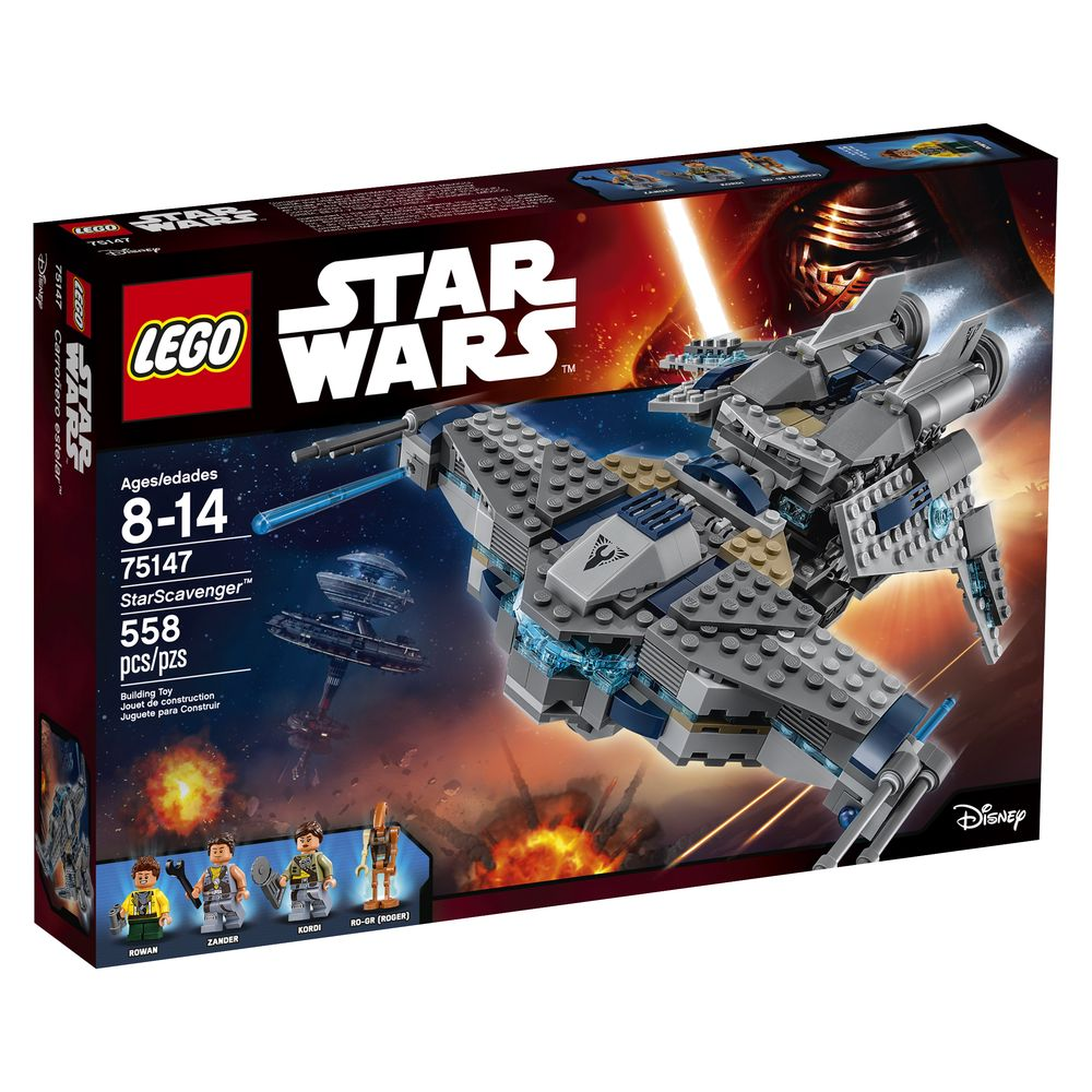 Dagens premie er et Lego Star Wars StarScavenger-sett, levert av Lego.
