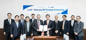 Samsung SDI og Lucid har inngått batterisamarbeid.