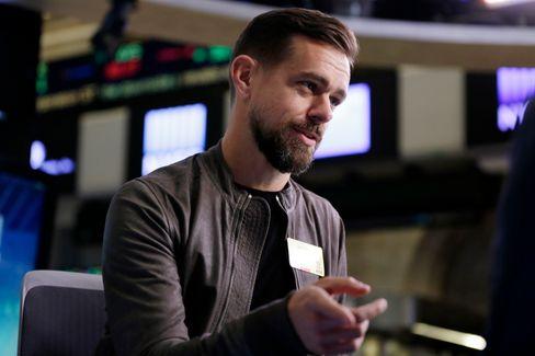 Twitter-sjef Jack Dorsey. Bildet er tatt under et intervju ved New York Stock Exchange den 22. november 2016.