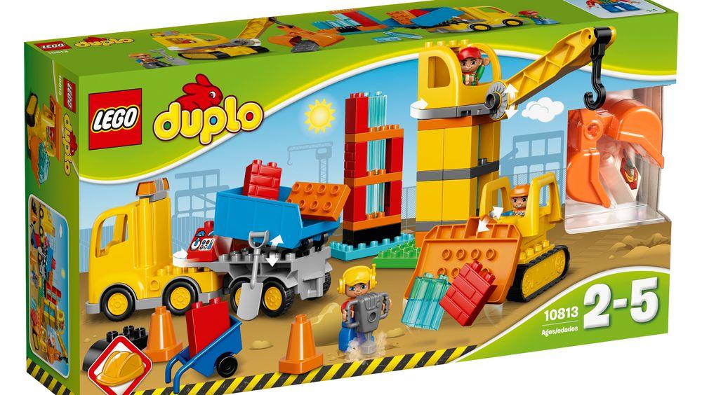 Denne byggeplassen i Duplo kan bli din, om du er den heldige vinneren i dagens julekalender.