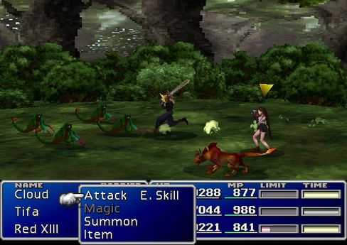 Cloud tar for seg i kampene i Final Fantasy VII.