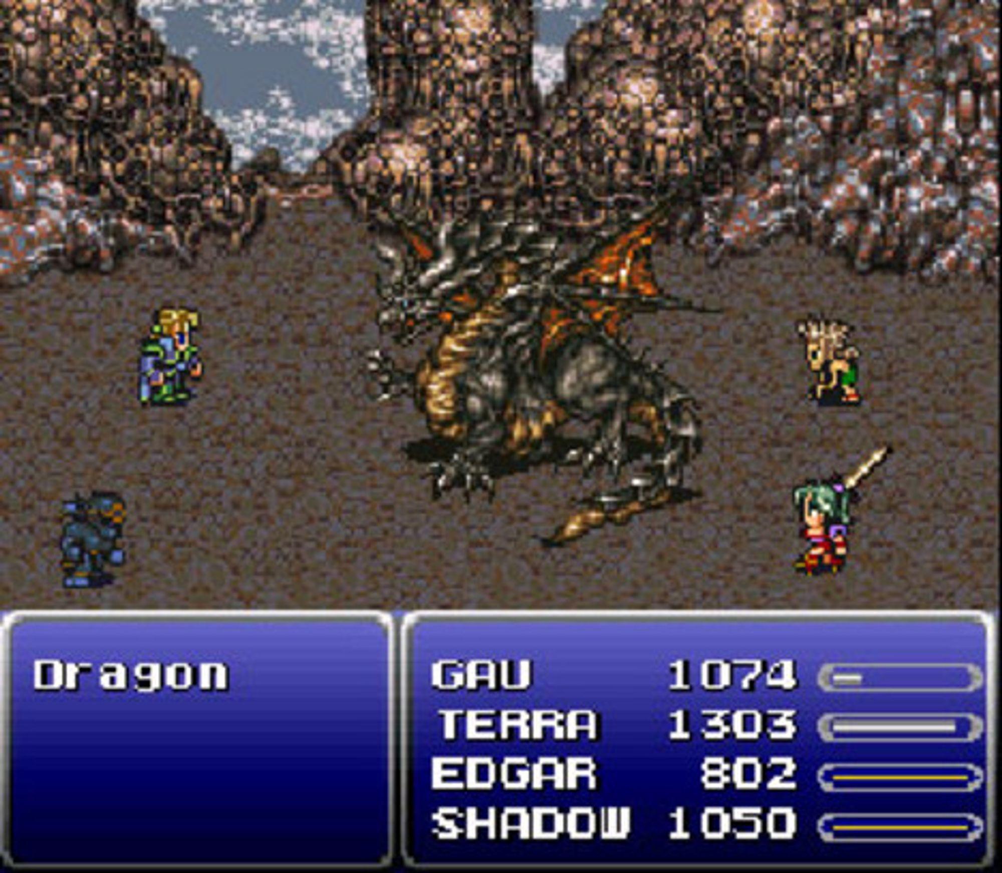Kampene i Final Fantasy VI har en tendens til å bli skikkelig intense.