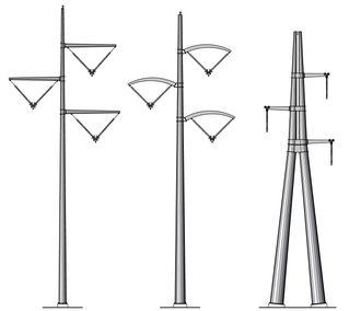 Disse forslagene til mastedesign fra Jøsok deltok også i konkurransen.