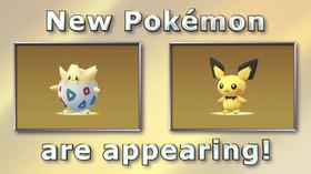 Togepi og Pichu er blant de nye Pokémon Go-monstrene.