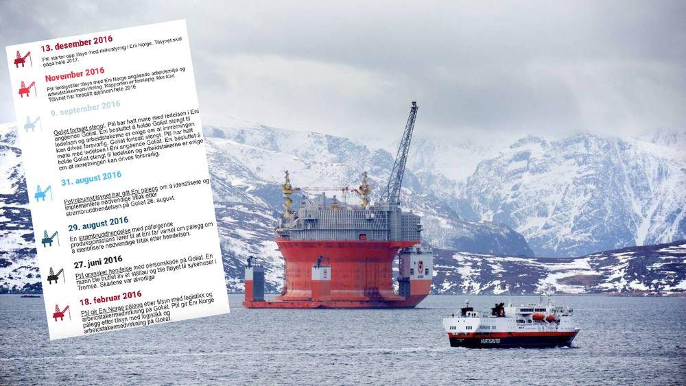 Goliat-prosjektet skal gås etter i sømmene hele neste år. Siden FPSO-en kom til Norge, har Petroleumstilsynet hatt nok å holde på med knyttet til den første oljeutbyggingen i Barentshavet