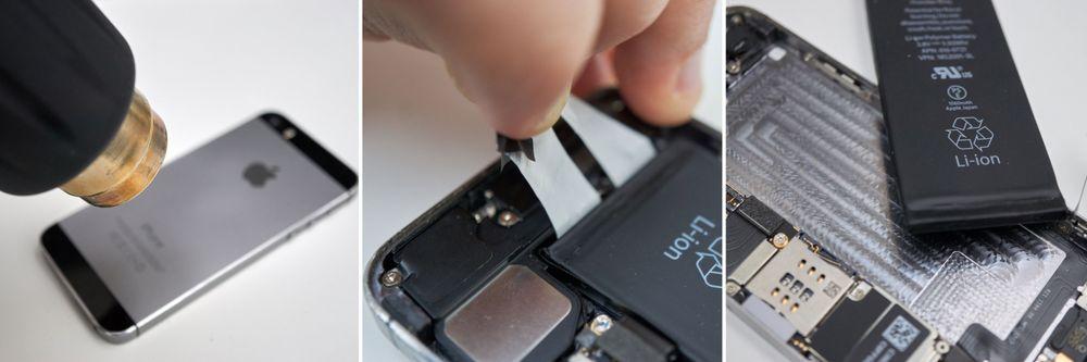 Litt oppvarming og fingernemhet gjør fjerning av batteriet til en smal sak.