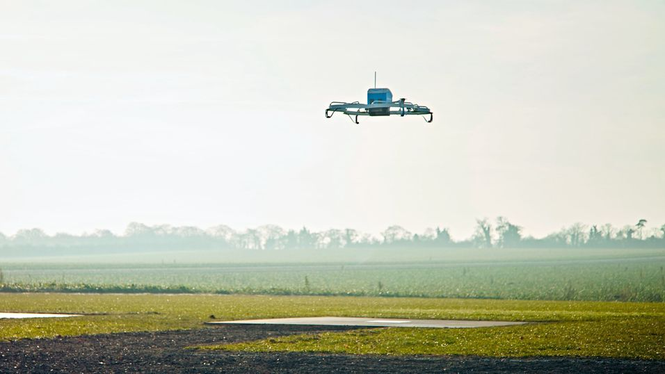 Amazon Prime Air-dronen i aksjon.