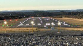 GULLKNAPP: Arendal Lufthavn ligger i Froland kommune, cirka ti kilometer fra Arendal sentrum.