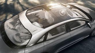 Innvendig størrelse som en stor sedan, men med et fotavtrykk som en mellomklassebil, er Lucids beskrivelse.