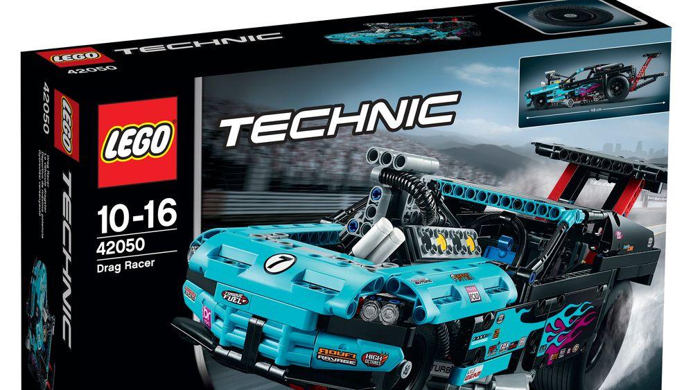 I julekalenderen i dag kan du vinne et Lego Technic Drag Racer-sett.
