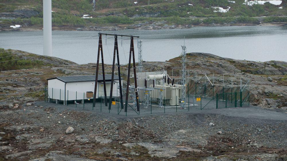 Illustrasjonsbilde: Høyspenningsleveranse til vindkraft. Bilde fra Nygårdsfjellet, Narvik (Nordkraft Vind).