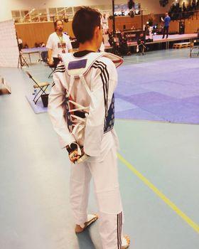 FOKUSERT: Sander Fengsrud er klar for kamp. Da er han 100 prosent fokusert!