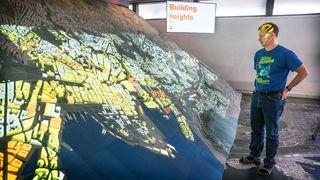Nå kan alle Oslos planer projiseres på denne enorme 3D-modellen