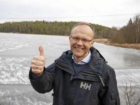 KLAR FOR UTENDØRS SVØMMEMORO Rune Årnes, økonomiansvarlig i KILs svømmegruppe, er optimistisk med tanke på planene!