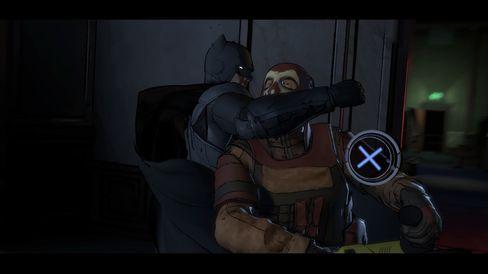 Trykk på knappen for å slå. Eller la være. Batman fikser det like greit uten deg.