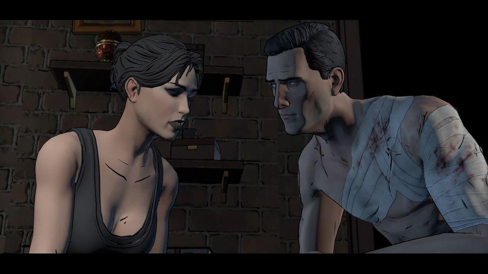 Selina Kyle (Laura Bailey) og Bruce Wayne (Troy Baker) har en god kjemi seg imellom.