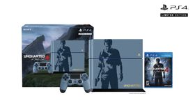 Uncharted 4 Limited Edition PS4 samlepakke.