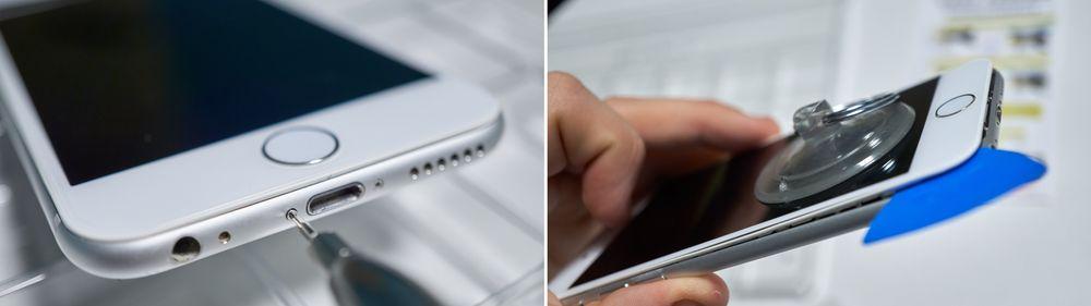 Alltid første steg i en iPhone-reparasjon.