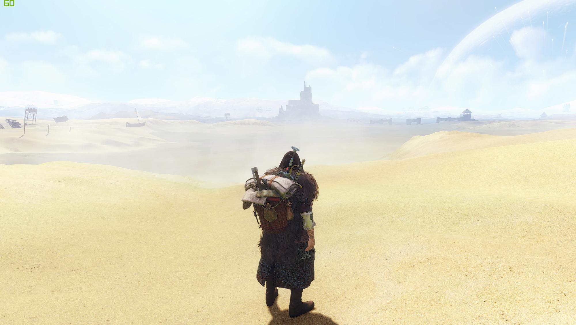 Geralt på plass i ørkenen.