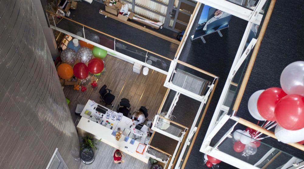 Opera Software ved deres hovedkvarter i Nydalen. Bildet er fra innflytningen sommeren 2013.