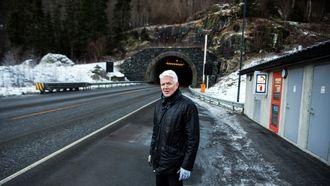 Tidligere Granvin-ordfører Olav Seim er glad i Tunsbergtunnelen, som binder Voss og Granvin tettere sammen.