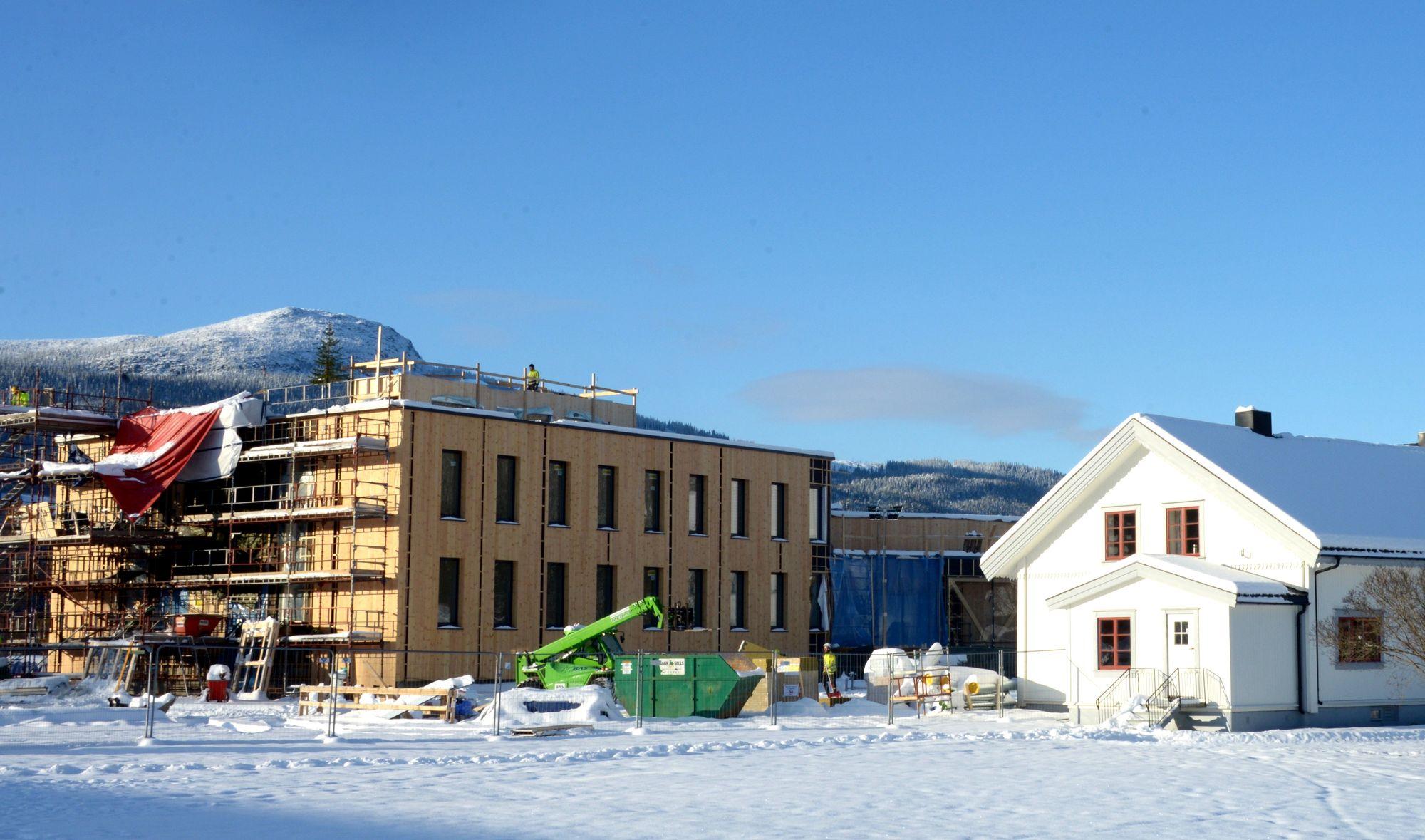 Selvom nybygget på Campus Evenstad har en meget vakker beliggenhet har man valgt å la taket ligge «brakk». Man kunne hatt hage, takterasse, høsting av regnvann, solcellepaneler, etc.