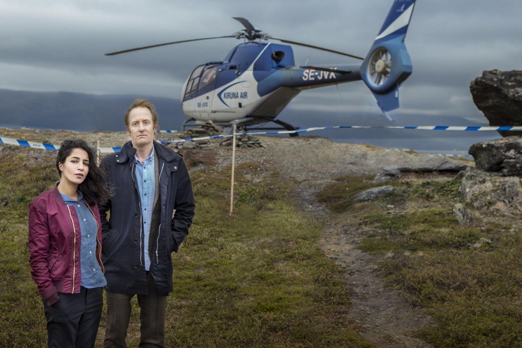 """""""Midnattssol"""", med Leïla Behkti og Gustaf Hammarsten i hovedrollene, vil være mer enn bare en kriminalhistorie."""