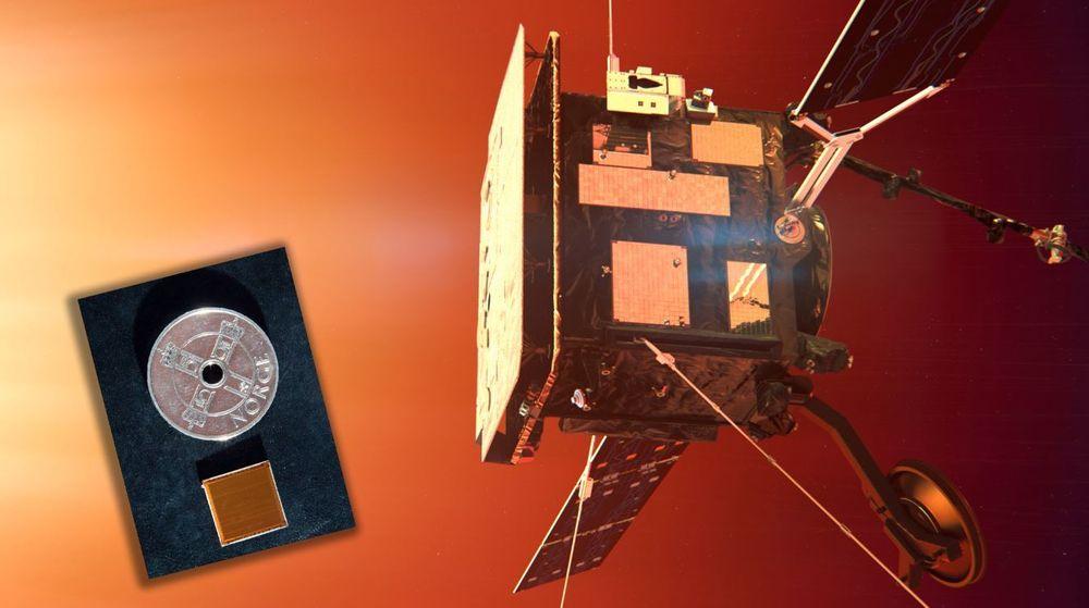 I bane rundt sola: Bitvis i Asker har utviklet styresystemet for solpanelet som henter inn strøm til ESA-satellitten Solar Orbiter.  Arbeidet er komprimert på en FPGAer brikke.