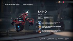Spillere får velge mellom flere forskjellige skip.