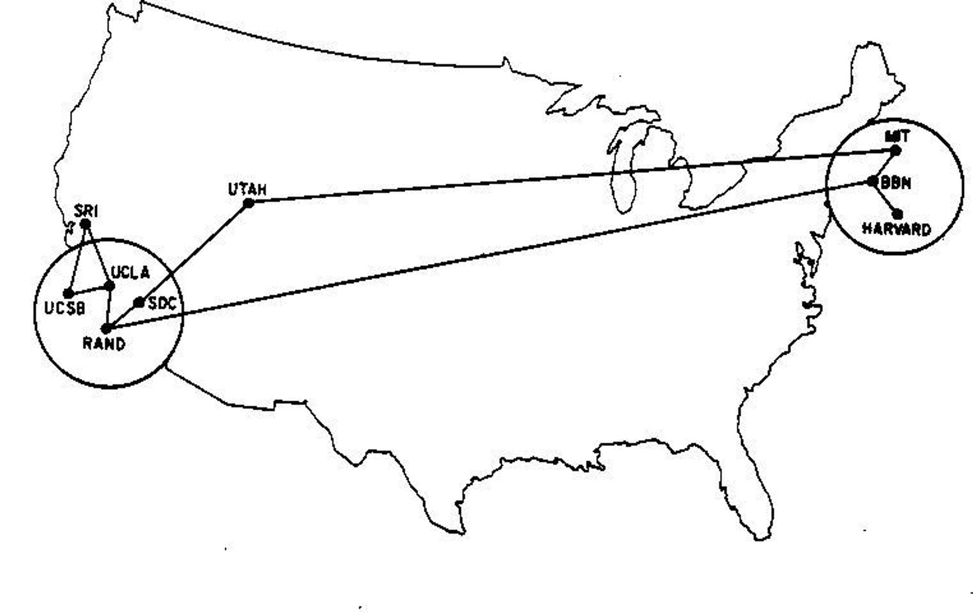 ARPANET i juni 1970.