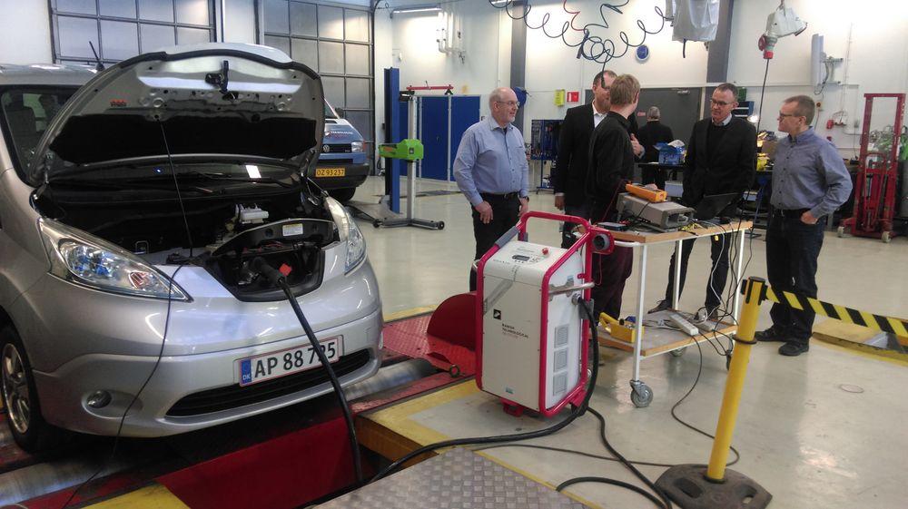 Her tester prosjektets partnere det første Batnostic-oppsettet. Testen gjennomføres på en Nissan e-NV200