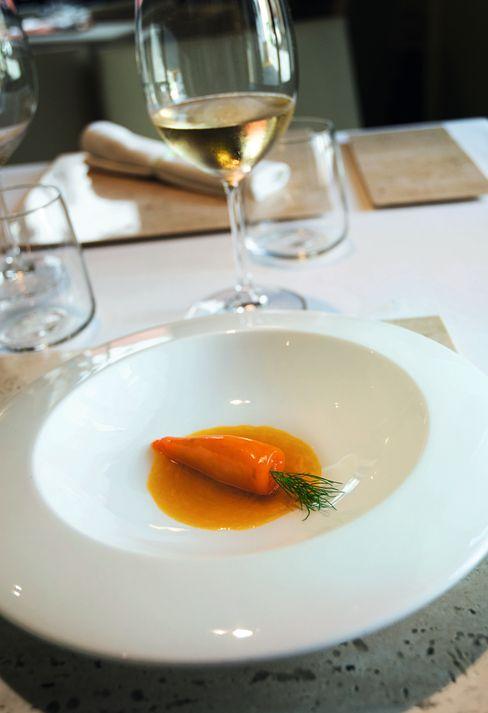Blekksprutretten er formet som en gulrot.