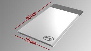 På størrelse med et kredittkort: Dette er Intels minste og tynneste datamaskin noensinne