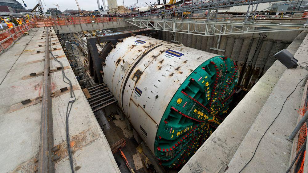 Med oppstart i 2013 og 14 måneds drivetid var planen at Big Bertha skulle få gjennomslag i 2014. Denne  uken skjedde det, tre år på overtid.