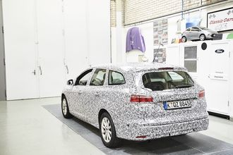 Ford Focus med med 3D-Brick-design.