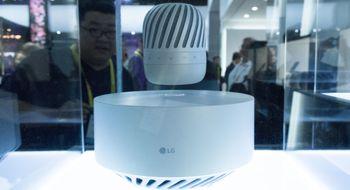 LG PJ9 / PJ6 / PJ3 LGs nye høyttaler svever i lufta og spiller musikk i 360 grader
