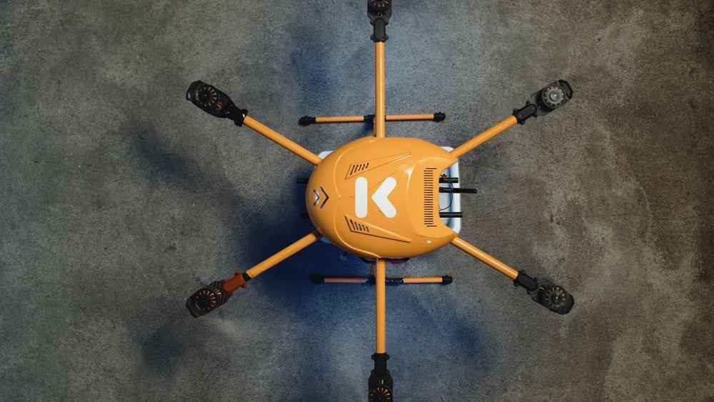 Kolonial har laget en drone som figurerer i en reklamefilm for bedriften.
