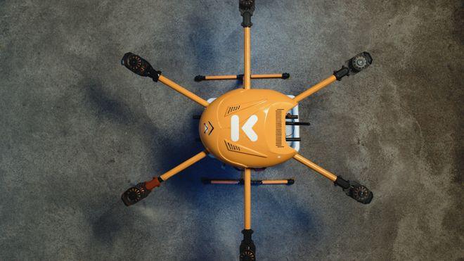 Nå jobber de med å sende maten din med drone