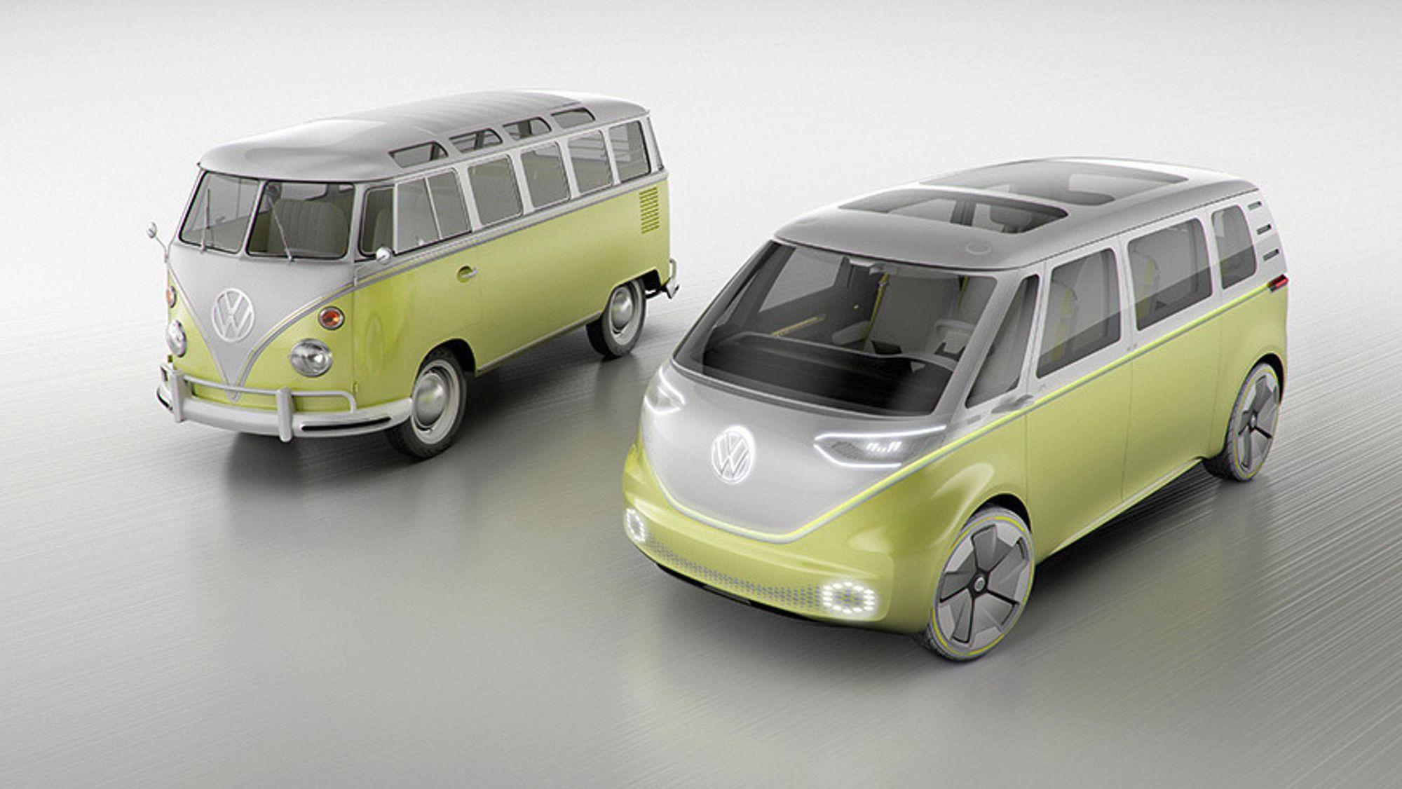 Konseptet I.D. Buzz er inspirert av Volkswagen Type 2, som ble introdusert for 70 år siden.
