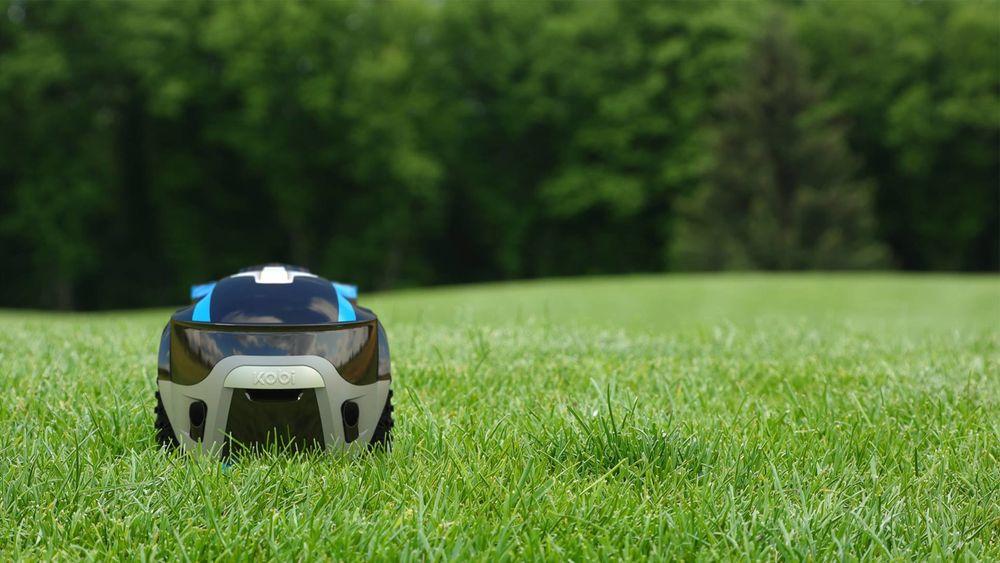 Kobi er en robotgressklipper om sommeren.